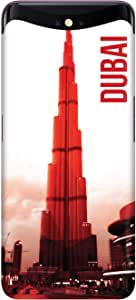 Stylizedd Oppo Find X Slim Snap Basic Case Cover Matte Finish - Dubai - The Burj