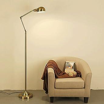 Lampadaire LED en métal, lampadaire Extensible, protège Yeux