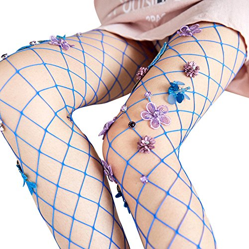 (Wensltd Clearance! Women Sexy Hosiery Black Fishnet Elastic Thigh High Stockings (Blue))