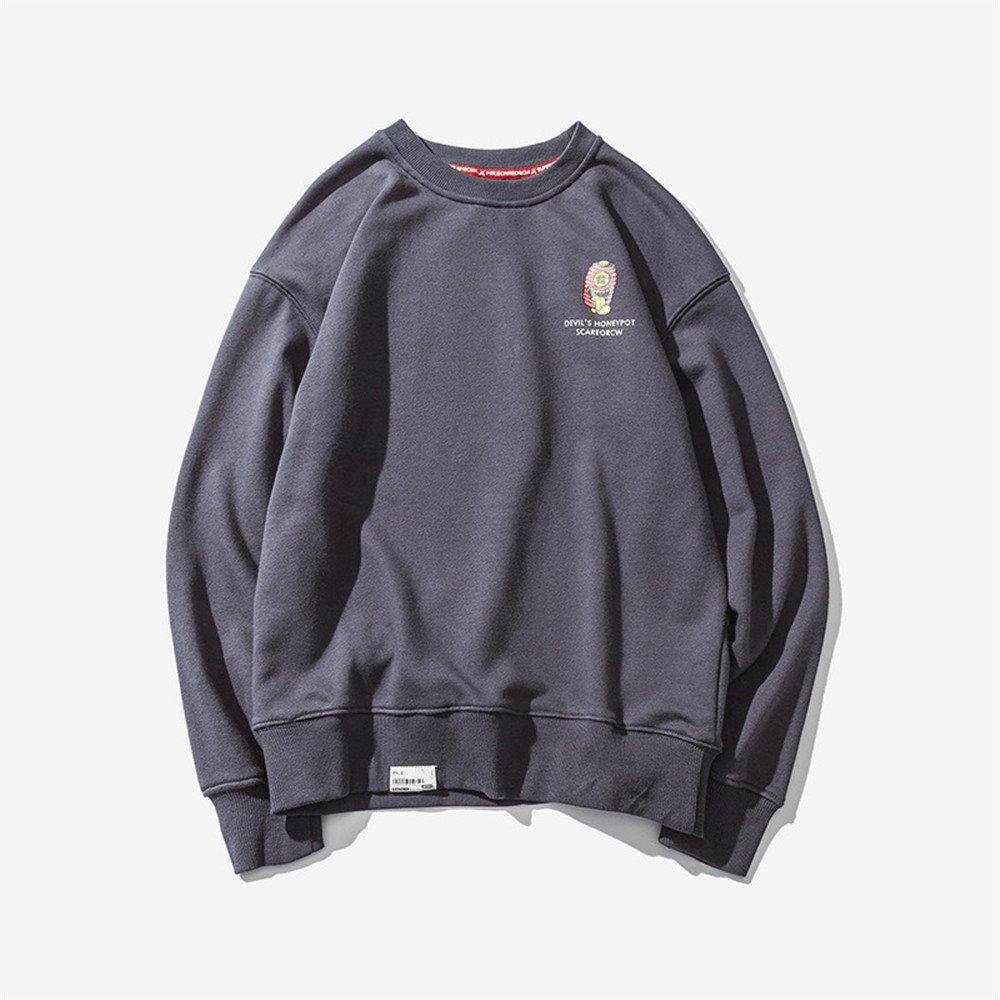 Ndsoo männer - Pullover Pullover japanische Comic - Winter - Mode - Trend der personalisierten männer Pullover,dunkelgrau,2XL
