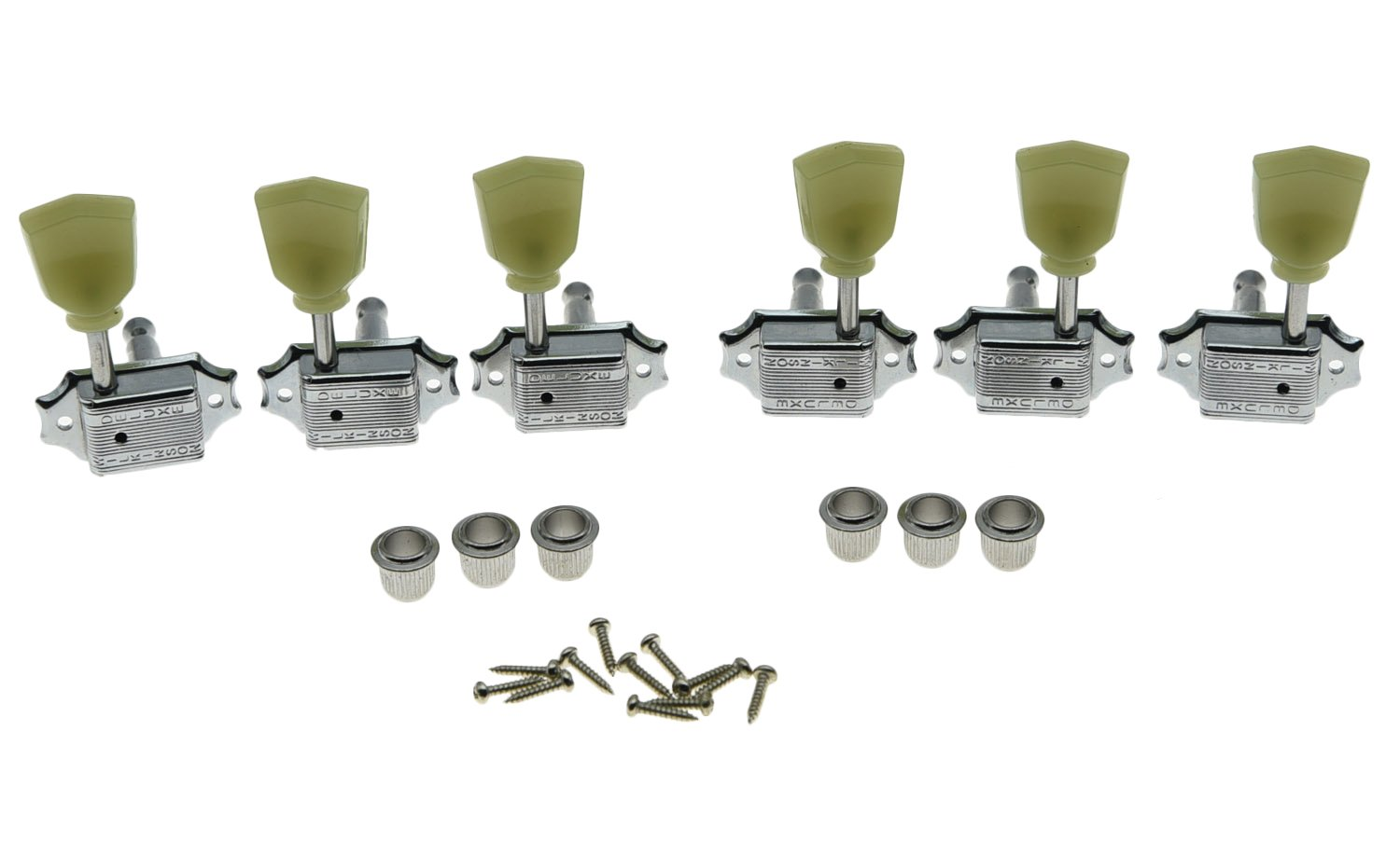 Wilkinson Chrome 3x3 Deluxe Vintage Tuners Tuning Keys Machine Head for Les Paul T376