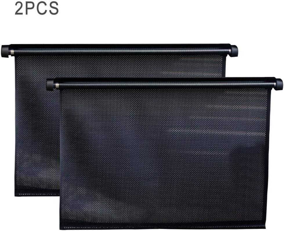 ni/ños y Mascotas. Bloquea el 97 de los Rayos UV da/ñinos Protector Universal de Shades para Windows para beb/és Esplic Toldos para Autos Parasol Enrollable retr/áctil para autom/óviles 2PCS