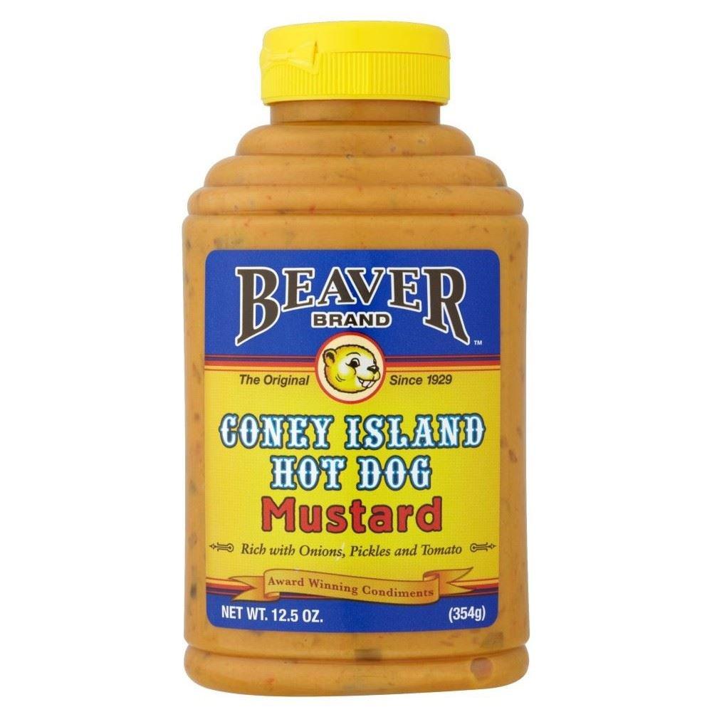 Beaver Coney Island Hot Dog Mustard (354g) - Pack of 6