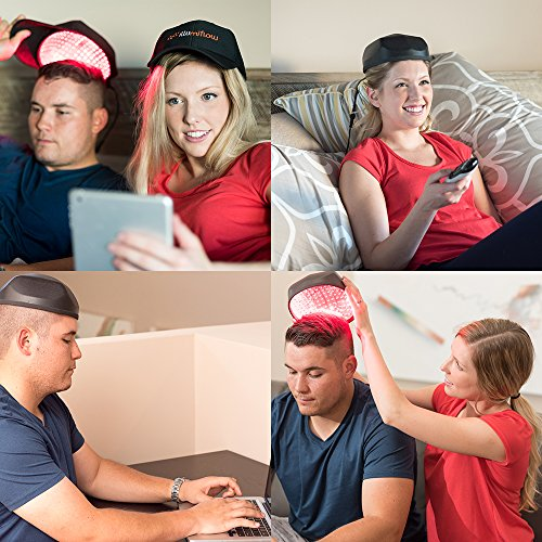272 Diodes, FDA Cleared Laser Helmet for Thinning Hair Loss Treatment for Men and Women. Light Stimulates Hair Follicles for Thicker Hair Regrowth. by illumiflow (Image #6)