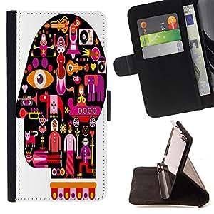 Dragon Case - FOR Apple Iphone 6 - affection and love - Caja de la carpeta del caso en folio de cuero del tir¨®n de la cubierta protectora Shell