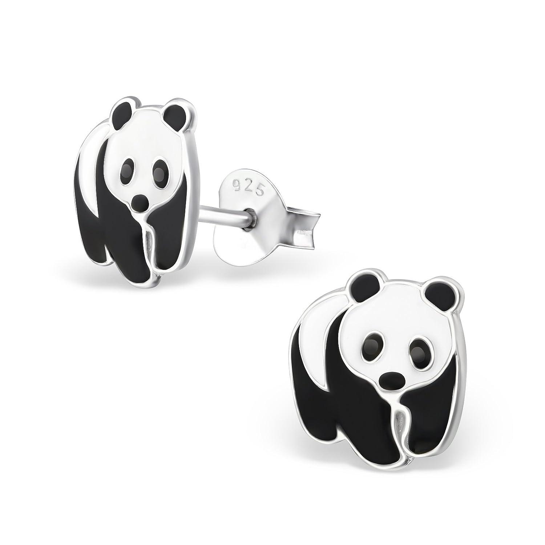 Panda Bär Ohrstecker 925 Echt Silber Ohrringe Kinder Mädchen Baby