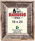 BarnwoodUSA Reclaimed Artisan Picture Frame (18×24, Weathered Gray) For Sale