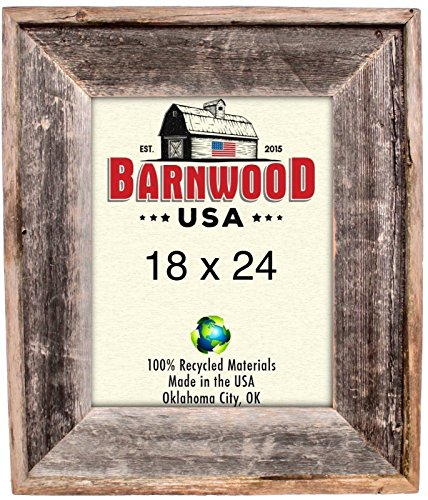BarnwoodUSA Reclaimed Artisan Picture Frame (18x24, Weathered Gray)