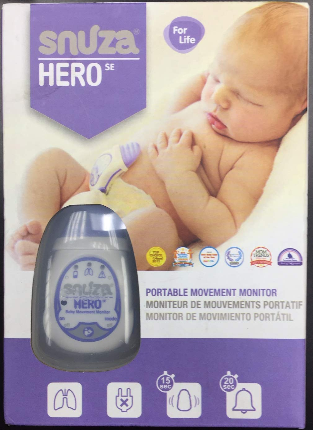 Snuza Hero SE Baby Movement Monitor (Purple)