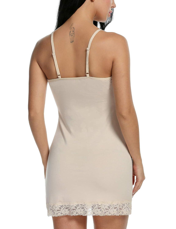 f46884f6428d Avidlove Women Lace Lingerie Chemise Mini Full Slip Modal Sleepwear  Nightgown at Amazon Women s Clothing store