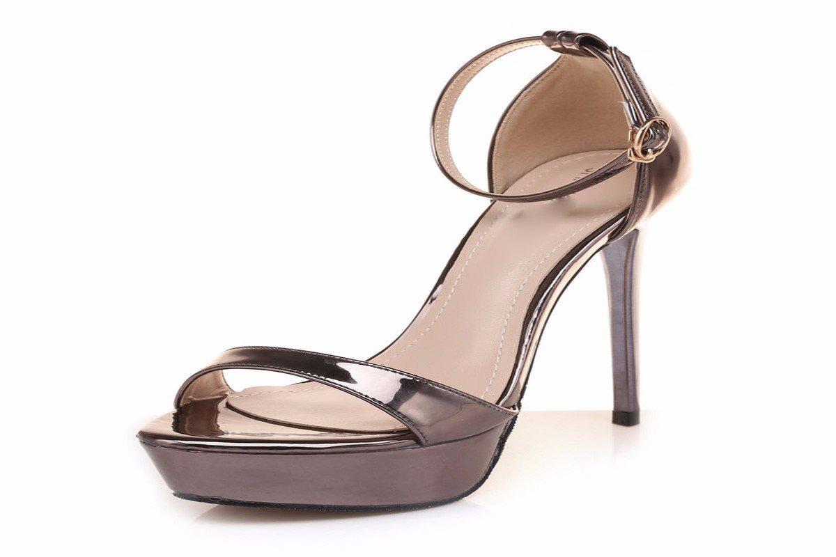 GTVERNH Damenschuhe Sommer 13Cm Hochhackige Schuhe Dünn Sandalen Sexy Wasserdicht Tabellen Entließ Die Schuhe.