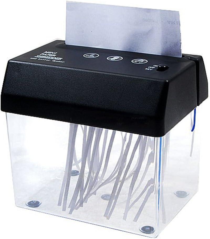 KIKAR portatile da tavolo A6 alimentazione a batteria//rete elettrica Mini tritatutto e tagliacarte USB