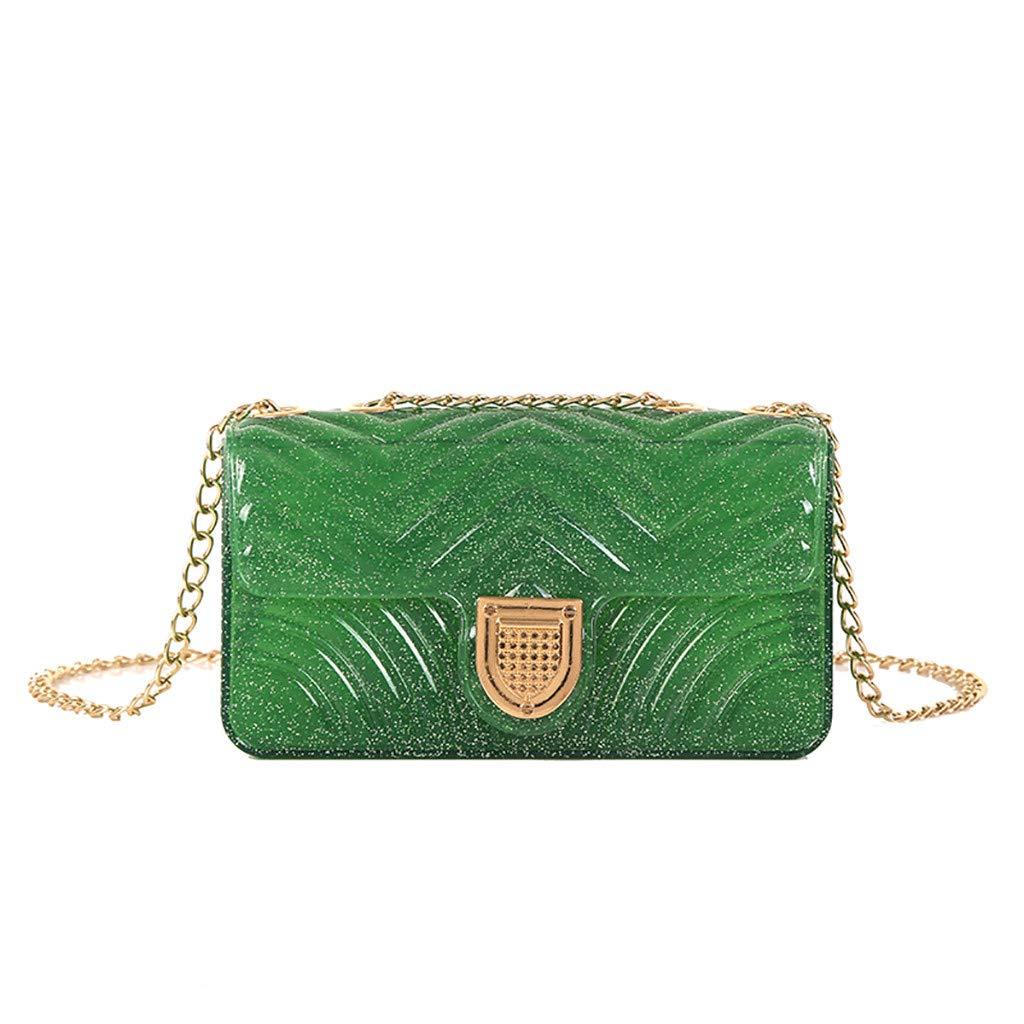 Handbag for Women,Bamboo Handbag,Women Chain Shoulder Bag Fashion Wild Messenger Bag Small Square Bag Green