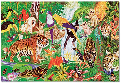 Melissa & Doug Rainforest Floor Puzzle (48 pcs, 2 x 3 feet)