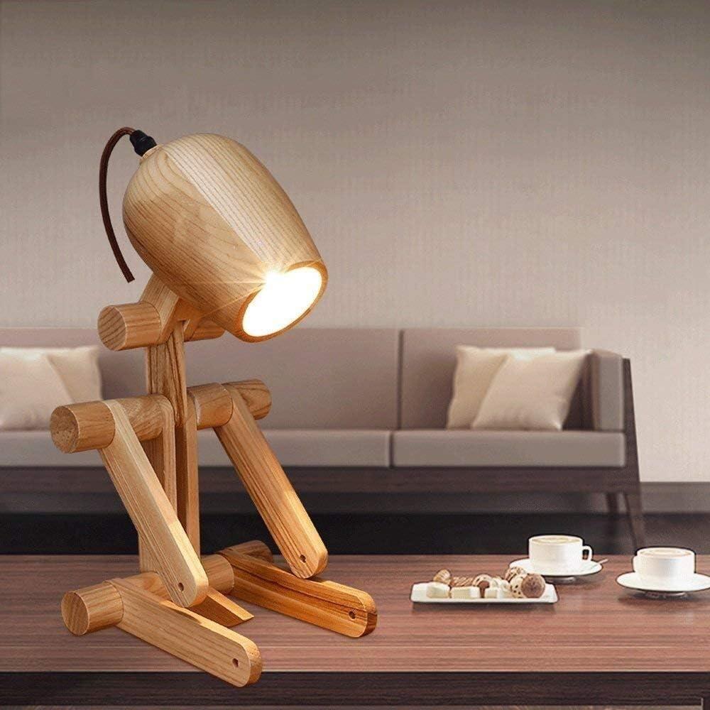 Hjbh123 Lampes Pliable Table en Bois natif éclairage Simple