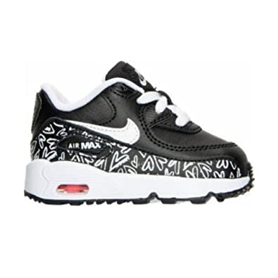 factory price 10986 87fff Nike Air Max 90 Print LTR Black White-Lava Glow (Toddler) (