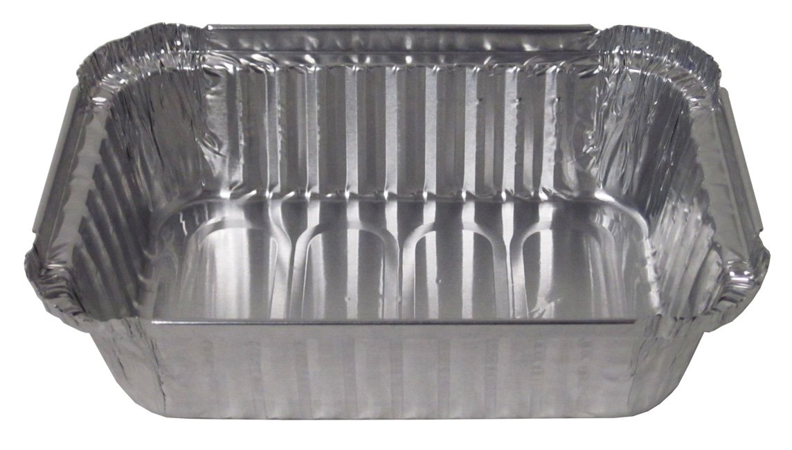 Durable Packaging 24530500 Aluminum Oblong Deep Pan, 1-1/2 lb (Pack of 500)