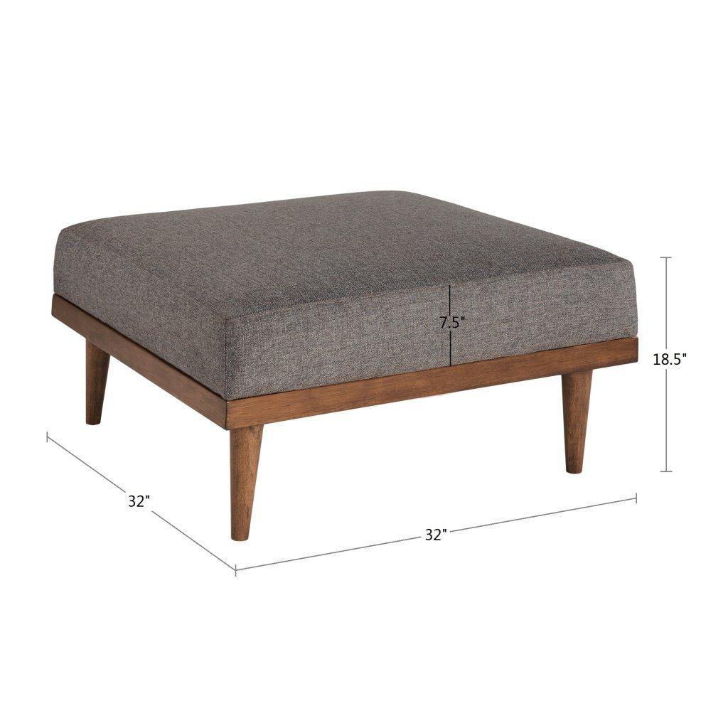 Outstanding Amazon Com Ink Ivy Stanton Square Ottoman Taupe See Below Creativecarmelina Interior Chair Design Creativecarmelinacom