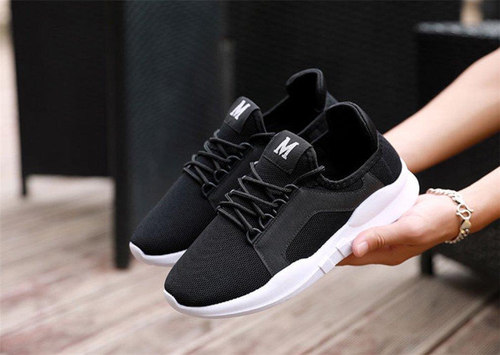 LUCKY-U Hommes Chaussures, Sneakers Casual Léger Chaussures De Sport avec Caché Levage Talon Confortable Douce Randonnée Chaussures De Sport