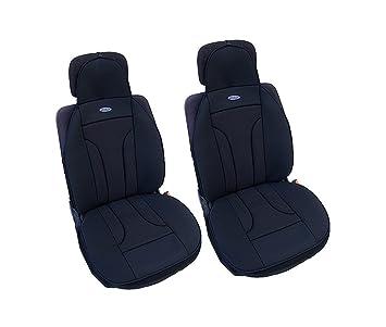 flexzon 1+1 ER LUX black Premium Black Comfort Padded Car Seat Cover