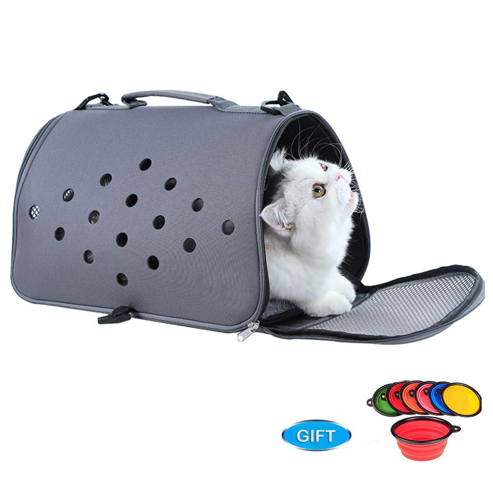 HIMA PETTR Pet Carrier, for Cats and Puppies, Fleece Mat, 40  23  23cm