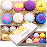 Bath Bombs Gift Set - 8 Luxury Vegan Bubble Fizzies, Relaxation Bath Bomb Kit - Relaxing Spa Gifts For Women - Unique Birthday & Beauty Products