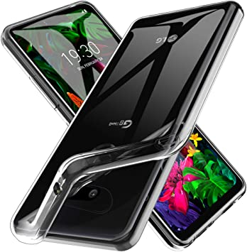 LK Funda para LG G8 ThinQ, Carcasa Cubierta Suave TPU Gel Silicona ...