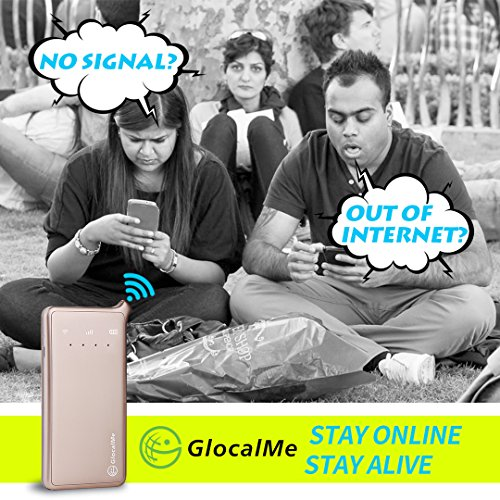 GlocalMe U2 4G Mobile Hotspot Global Wi-Fi with 1GB Global Initial Data, SIM Free, Coverage in Over 100 Countries Featuring Free Roaming, Compatible with Smartphones, Pads, Laptops and More(Gold) by Glocalme (Image #4)