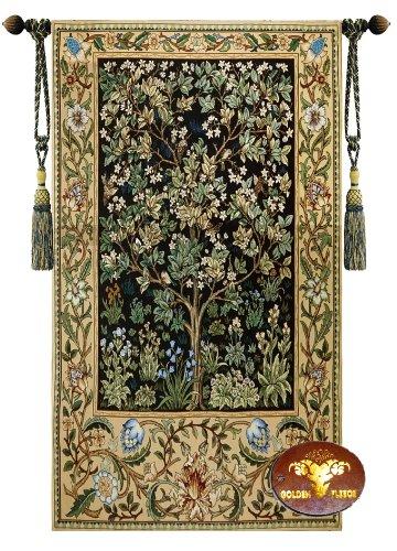 (Beautiful Large Tree of Life (B) William Morris Fine Tapestry Jacquard Woven Wall Hanging Art Decor)
