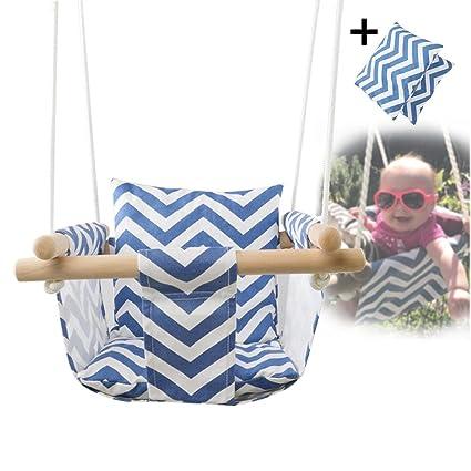 545226893 fancylande asiento columpio para bebés, bebé lienzo Balancer silla de techo  de madera interior pequeña