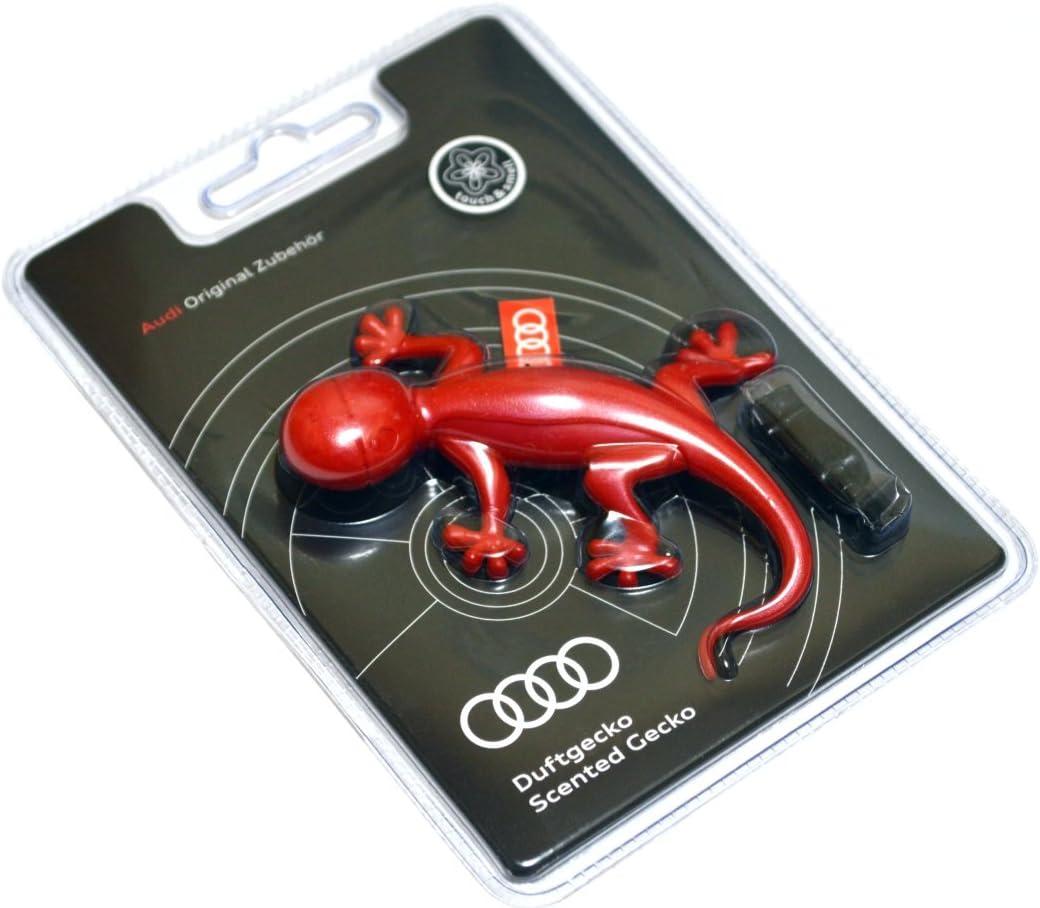Ambientador de coche original de Audi, olor a flores, diseño de lagartija, color rojo