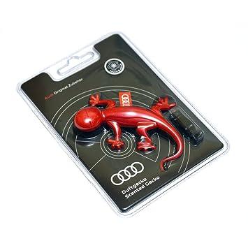 Amazon.es: Ambientador de coche original de Audi, olor a flores, diseño de lagartija, color rojo
