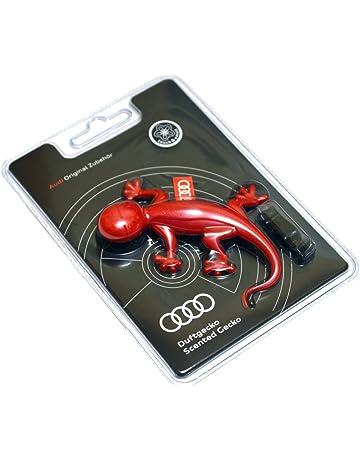 Ambientador de coche original de Audi, olor a flores, diseño de lagartija, color