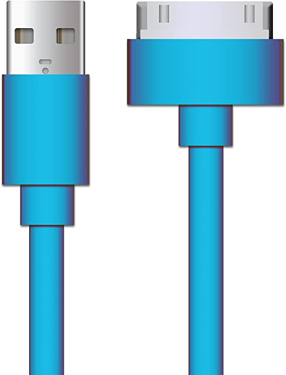 5PCS USB DATA POWER CHARGER CABLE DOCK CONNECTOR APPLE NEW IPAD IPHONE IPOD BLUE