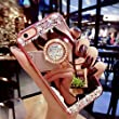 iPhone 8 Case ,MACBOU Fashion Crystal Rhinestone Soft Rubber Bumper Bling Diamond Glitter Mirror Case Makeup With Ring Stand Holder Case Cover for iPhone 8 (Rose Gold)