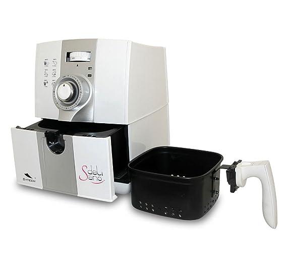 Freidora por Aire Caliente Delisano para Cocinar sin Aceite Capacidad 2 litros Potencia 1500W más un Libro de Recetas 2749: Amazon.es: Hogar