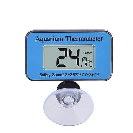 SupplyEU - Termómetro Digital LCD para Acuario (Impermeable, con Ventosa, Rango de Temperatura