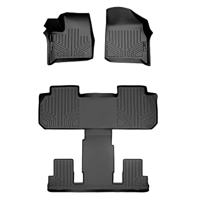 SMARTLINER SA0345/B0345 for 2020-2020 Chevrolet Traverse with 2nd Row Bucket Seats, Black: Automotive