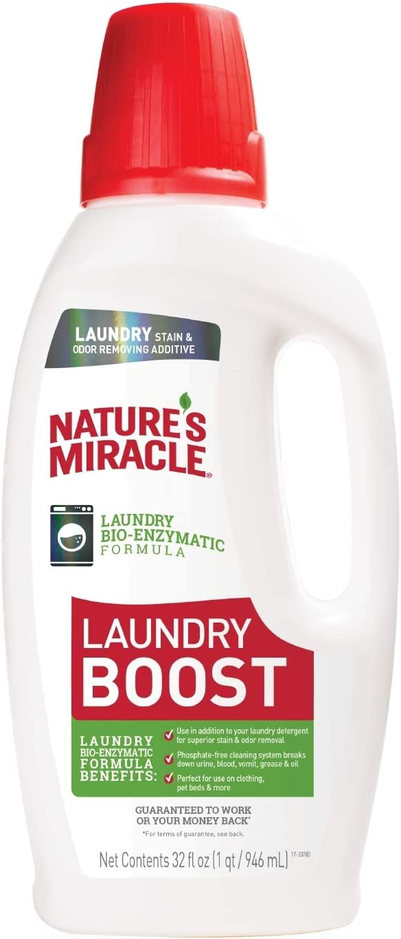 Nature's Miracle Laundry Boost, Laundry Bio-Enzymatic Formula, Breaks Down Urine, Blood, Vomit, Grease and Oil