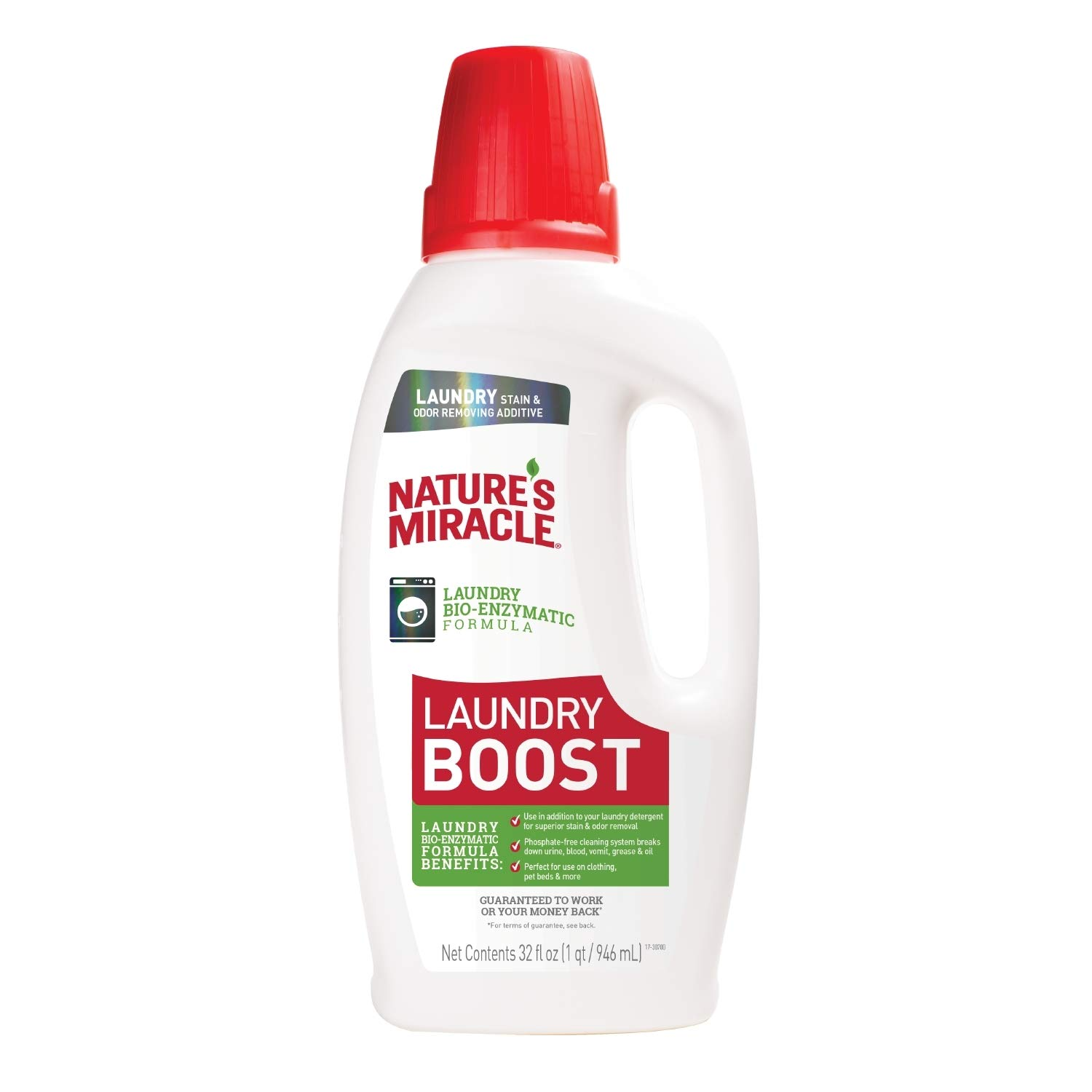 Nature's Miracle Laundry Boost 32 fl oz, Laundry Bio-Enzymatic Formula, Breaks Down Urine, Blood, Vomit, Grease And Oil