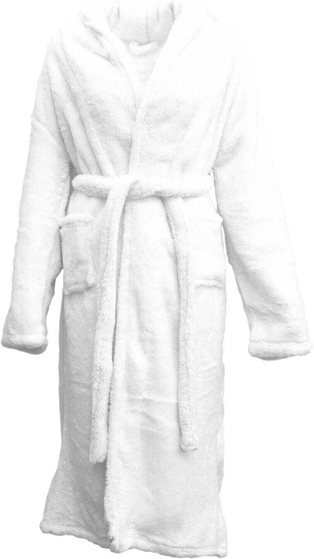 White, Small//Mediam Unisex Terry Toweling Shawl Neck Bathrobe 100/% Egyptian Cotton Super Quality