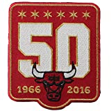 Chicago Bulls 50th Anniversary Season Logo Red Warm Up Jacket Patch (2015-16)