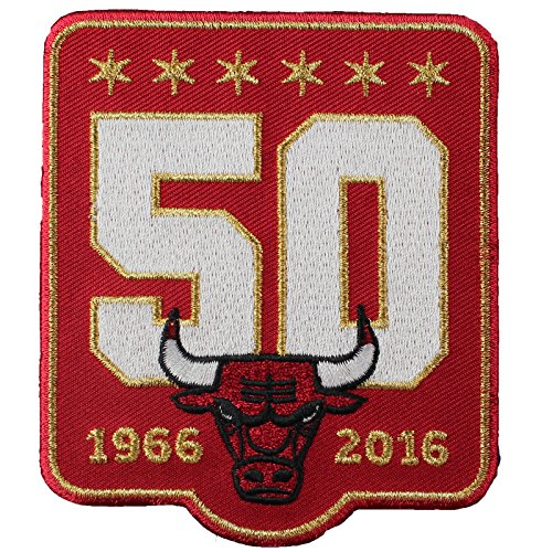 Chicago Bulls 50th Anniversary Season Logo Red Warm Up Jacket Patch (2015-16) by Patch Collection