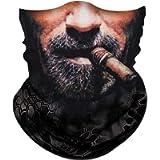 Obacle Skull Face Mask Half for Dust Wind Sun Protection Seamless 3D Tube Mask Bandana for Men Women Durable Thin…