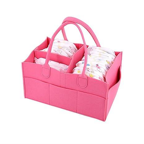 BB Hapeayou - Organizador portátil grande para pañales, juguetes y toallitas, para recién nacido