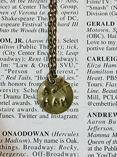 HAMILTON: A.HAM bronze stamped necklace with star charm