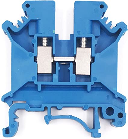 Any Color Distribution Terminal Blocks 10 Gang DIN Rail Dinkle 10AWG 30A 600V