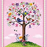Paperproducts Design Lunch Napkin with Exquisite Love Tree Design, 6.5 x 6.5'', Multicolor