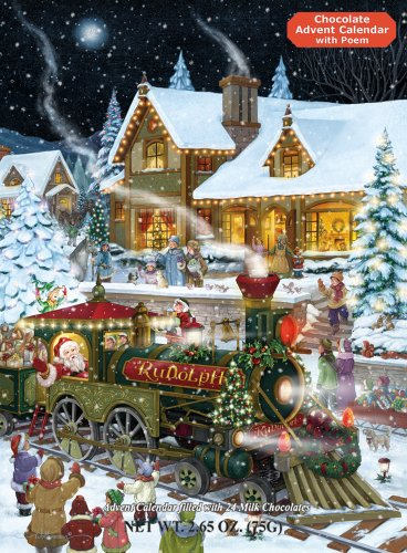 Whistle Stop Christmas Chocolate Advent Calendar Filled With 24 Milk Chocolates