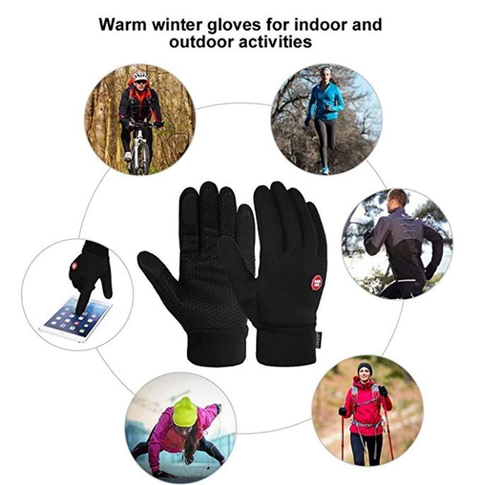 Hiver Gants Chauds De Ski Doigts Complets Aesy Gants de V/élo /à /écran Tactile Coupe-Vent pour Hommes Femmes
